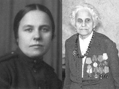 Бабушка Маруся в 1945 и в 1988